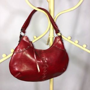 Nine West red satchel hobo purse